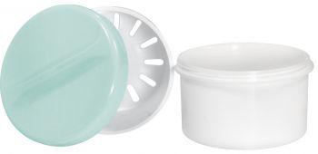AMPRI-Hygiene, PE-Zahn-Prothesen-Becher, 250 ml, VE = 20 Stück, pink
