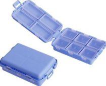 AMPRI-Tabletten-Box, 10 Fächer, je 12 Stück in blau, rot, gelb, grün, transparent, VE = 60 Stück