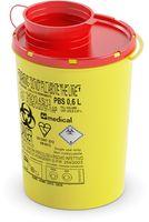 AMPRI-Hygiene, Kanülen-Entsorgungs-Box, Serie PBS, 0,6 Liter, VE = 100 Stück