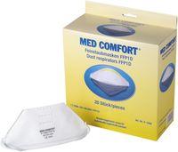 AMPRI-Einweg-Staub-Filter-Maske, Halbmaske, Med Comfort, FFP1D, mit Gummizug, ohne Ventil, flach gefaltet, VE = 20 Stü