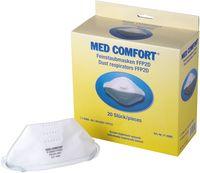 AMPRI-Atemschutz-Halbmaske, FFP2D, MED COMFORT, flach gefaltet, VE = 12 Boxen á 20 Stk.