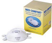 AMPRI-Einweg-Staub-Filter-Maske, Halbmaske, Med Comfort, FFP3D, mit Gummizug, mit Ventil, VE = 5 Stück, Karton 12 Boxe