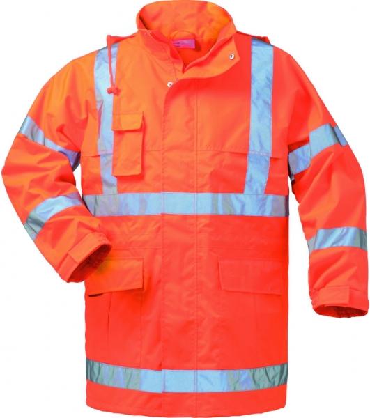F-SAFESTYLE, Warn-Schutz-Arbeits-Berufs-Parka, NILS, fluoreszierend orange