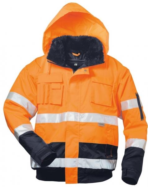 F-ELYSEE, Warn-Schutz-Piloten-Arbeits-Berufs-Jacke, VOLKER, fluoreszierend orange