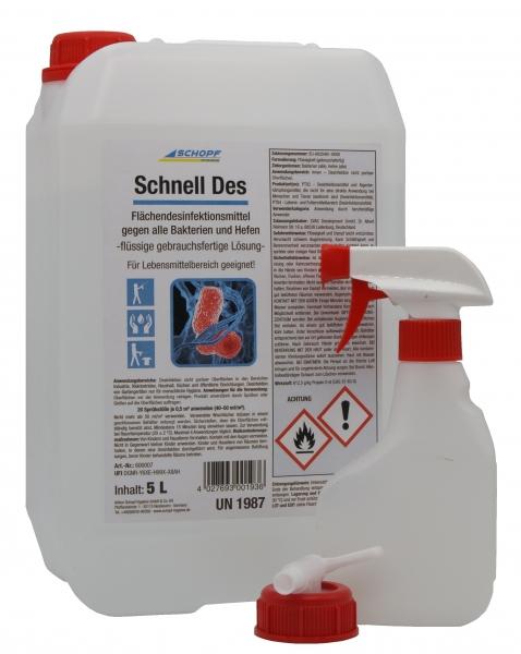SCHOPF Flächendesinfektion, Desinfektionsmittel Schnell Des 5L Kanister
