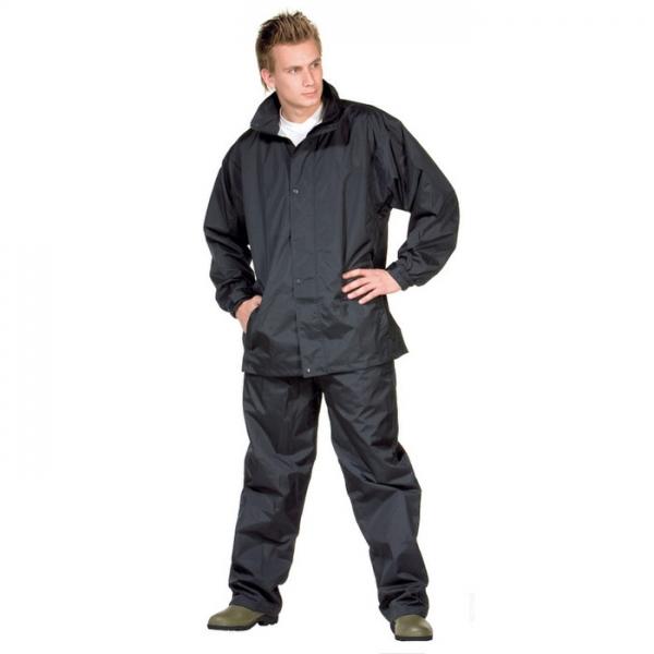 OCEAN-Regen-Nässe-Wetter-Schutz-Freizeit-Anzug, schwarz