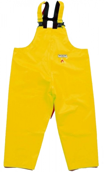 OCEAN-Regen-Nässe-Wetter-Schutz-Latzhose, Classic, 540g/m², gelb