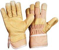 LP-Schweinsnarben-Leder-Winter-Arbeits-Handschuhe,  88 PAWA, gefüttert, gelb