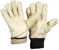 LP-WINTERHANDSCHUHE, Schweinsnarben-Leder-Arbeits-Handschuhe  mit Strickbund, 131 PAWA, gelb