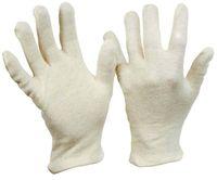 LP-BAUMWOLL-TRIKOT-Arbeits-Handschuhe, Herren, schwere Ausführung, rohweiß