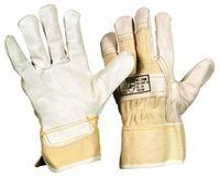 LP-Arbeits-Handschuhe, Rindnarben-Leder, Doppelnaht, gefüttert, natur