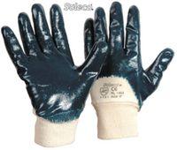 LP-SOLECO, Nitril-Arbeits-Handschuhe, Strickbund teilbeschichtet, blau