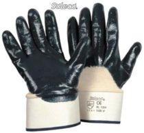 LP-SOLECO, Nitril-Arbeits-Handschuhe, Stulpe teilbeschichtet, blau