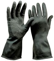 LP-ECONEOPRENE, Neoprene-Arbeits-Handschuhe, öl- und fettbeständig, Länge 32 cm, schwarz