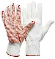 LP-FEINSTRICK-MONTAGE-Arbeits-Handschuhe, gute Schutzwerte, leicht und passgenau, mit Noppe weiß