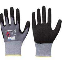 LP-LEIKAFLEX STAR, Nylon/Lycra-Feinstrick-Arbeits-Handschuhe mit Nitril-/PU-Beschichtung, grau/schwarz