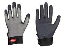 LP-R LINE, Baumwoll-Feinstrick-Arbeits-Handschuhe mit HPT-Beschichtung, grau/schwarz