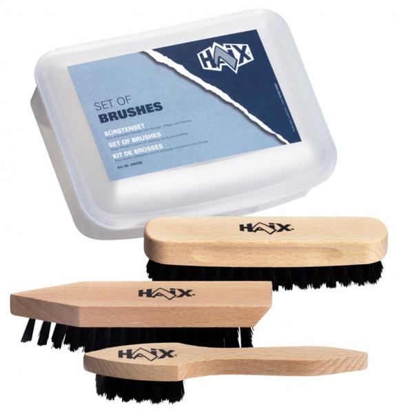 HAIX-Bürsten-Set, 900300, drei Bürsten zum reinigen und pflegen