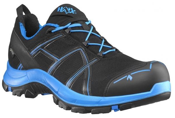 HAIX 610001-S3 Sicherheitshalbschuhe, BLACK EAGLE Safety 40.1, LOW BLACK/BLUE, schwarz/blau