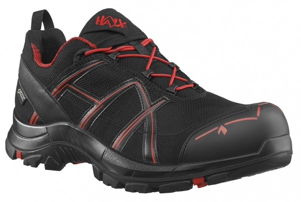 HAIX 610002-S3 Sicherheitshalbschuhe, BLACK EAGLE Safety 40.1, LOW BLACK/RED, schwarz/rot