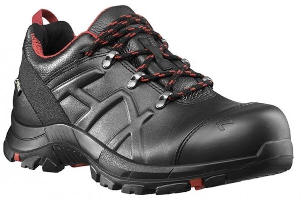 HAIX 610008-S3 Sicherheitshalbschuhe, BLACK EAGLE Safety 54, LOW BLACK/RED, schwarz