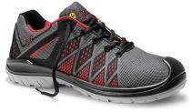 JORI-Sicherheits-Arbeits-Berufs-Schuhe, Halbschuhe, jo_FLEX red Low ESD S1P, grau/schwarz/rot
