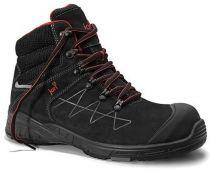 JORI-S3-Sicherheits-Arbeits-Berufs-Schuhe, Schnürstiefel, hoch, jo_MAX Mid S3, schwarz