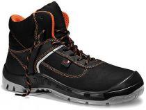 JORI-S3-Sicherheits-Arbeits-Berufs-Schuhe, Schnürstiefel, hoch, jo_COLOUR orange Mid S3, schwarz/orange