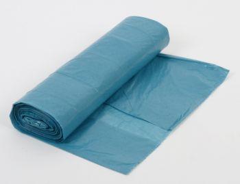 PL-Abfall-Säcke-Müll-Beutel, Müllsäcke, LDPE, Typ 60, ca. 35 ltr., 480 x 650 mm, 20 Rollen x 25 Stück, blau