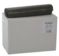 PL-Abfall-Säcke-Müll-Beutel, Müllsäcke, LDPE, Typ 60, ca. 70 ltr., 600 x 800 mm, 10 Rollen x 25 Stück, grau