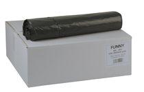 PL-Abfall-Säcke-Müll-Beutel, Müllsäcke LDPE, 700x1.100mm - Typ 60, ca. 120 Liter, 10 Rollen à 25 Stück