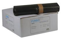 PL-Abfall-Säcke-Müll-Beutel, MÜLLSÄCKE, 800 x 1.000 mm – Typ 70, ca. 140 l, Karton: 10 Rollen à 25 Stück, grau