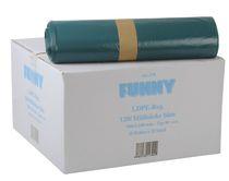 PL-Abfall-Säcke-Müll-Beutel, Müllsäcke, LDPE, ca. 120 ltr., 700 x 1100 mm, Typ 80 extra, 10 Rollen x 25 Stück, blau