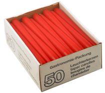 PL-Hygiene, Leuchter-Kerzen, 23 cm, 7,5 - 8 Stunden Brenndauer, 200 Stück, rot