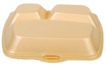 PL-Hygiene, Menübox, geschäumt, 3-teilig, 23 x 19 cm, 200 Stück, beige