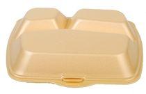 PL-Hygiene, Menübox, geschäumt, 3-teilig, 28 x 23 cm, 200 Stück, beige