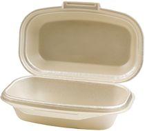 PL-Hygiene, Lunchbox, geschäumt, 1-teilig, 24 x 14 x 6 cm, 200 Stück, weiß