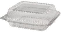 PL-Hygiene, Klappschale, OPS, mit Deckel, 1700 ccm, 500 Stück, transparent klar
