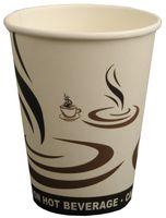 PL-Hygiene, Kaffeebecher, Cafe to go, beschichtet, 200 ml, weißes Design, 1000 Stück