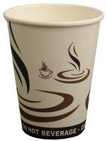 PL-Hygiene, Kaffeebecher, Cafe to go, beschichtet, 300 ml, weißes Design, 1000 Stück