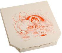 PL-Hygiene, Pizzakarton, Papier, neutrales Motiv, 1-farbiger Druck, 3 cm hoch, Größe: 26 cm, weiß, 200 Stück