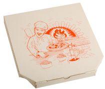 PL-Hygiene, Pizzakarton, Papier, neutrales Motiv, 1-farbiger Druck, 3 cm hoch, Größe: 29 cm, weiß, 200 Stück
