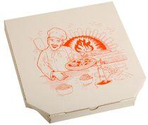 PL-Hygiene, Pizzakarton, Papier, neutrales Motiv, 1-farbiger Druck, 3 cm hoch, Größe: 32 cm, weiß, 150 Stück