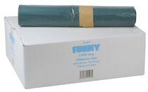 PL-Abfall-Säcke-Müll-Beutel, MÜLLSÄCKE, 800 x 1.100 mm – Typ 60 extra, ca. 140 l, Karton: 10 Rollen à 25 Stück, blau