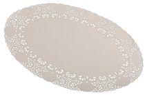 PL-Hygiene, Tortenspitzen, oval, 26 x 35 cm, 10 x 10 Stück, weiß
