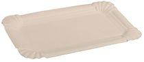 PL-Hygiene, Pappteller, rechteckig, abgerendete Ecken, unbeschichtet, 10 x 16 cm, 3000 Stück, weiß