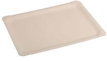 PL-Hygiene, Pappteller, rechteckig, abgerendete Ecken, unbeschichtet, 21 x 29 cm, 250 Stück, weiß