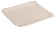 PL-Hygiene, Pappteller, rechteckig, abgerendete Ecken, unbeschichtet, 24,5 x 34 cm, 250 Stück, weiß