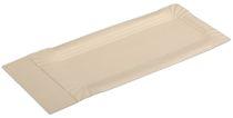 PL-Hygiene, Pappteller, rechteckig, spitz, beschichtet, 8 x 18+3 cm, 3000 Stück, weiß