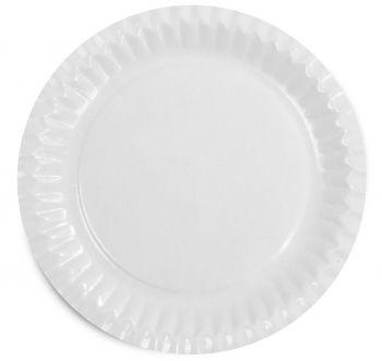 PL-Hygiene, Pappteller, rund, beschichtet, 18 cm, 1000 Stück, weiß
